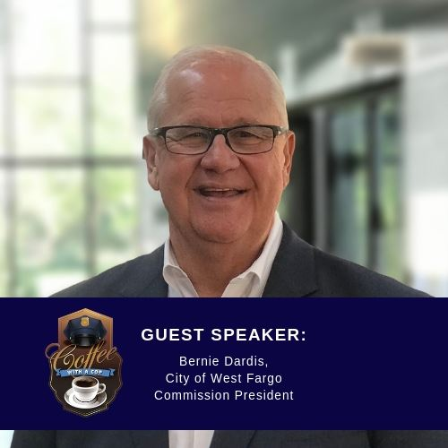 October Coffee with a Cop will feature speaker Commission President Bernie Dardis