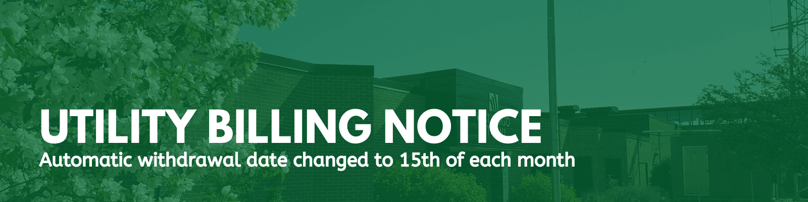 Utility billing notice of withdrawal date change