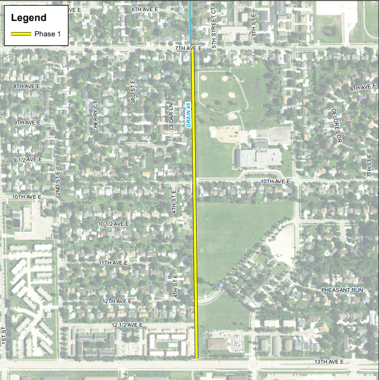 Bikeway Route Construction Project Location Map